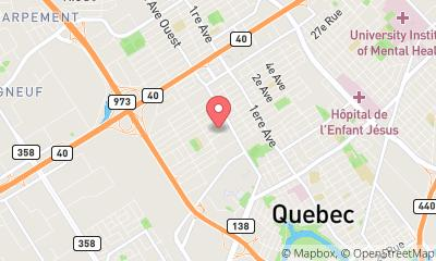 map, Software company Novasdux Solutions Inc. in Québec (QC) | WebMetric