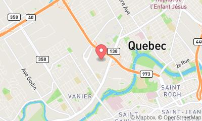 map, Mobile app developer Fido in Quebec City (QC) | WebMetric